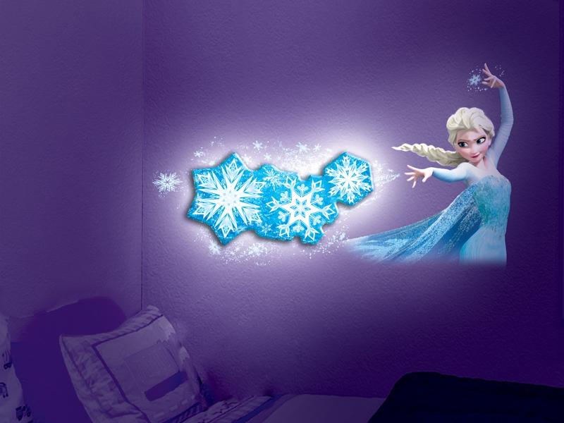 Disney Frozen Snowflake Light Dance Scene Room Decoration with Elsa Wall Decal